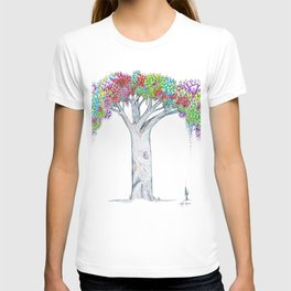 Rainbow Tree Huia Art T-shirt