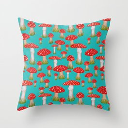 red toadstool Throw Pillow