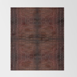 Dark brown snake leather cloth imitation Throw Blanket