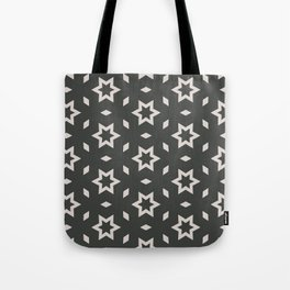 Black and white Stars Pattern Christmas Hollidays Tote Bag