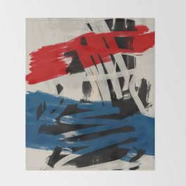 French Expressionist Abstract Art Throw Blanket