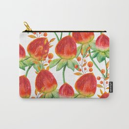 Watercolor hand painted red orange yellow tulip flowers Carry-All Pouch