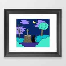 Front Yard Framed Art Print