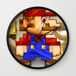 Super Mario Pixelated Realism Wall Clock