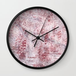 Queen pink abstract watercolor Wall Clock