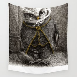 Unlike Father Like Owl Wall Tapestry