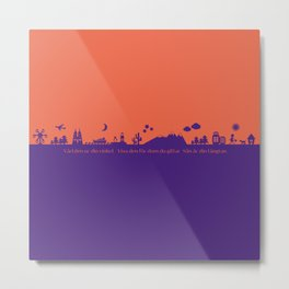 Find Your Angle_Travel_biColor Metal Print