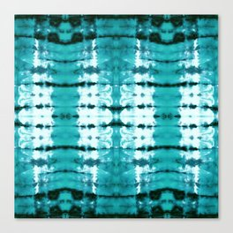 Aqua Satin Shibori Canvas Print