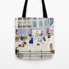 On the dike (in Ostend) Tote Bag