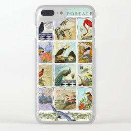 Birds of a Feather Postal Collage Clear iPhone Case