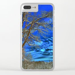 Winter Skies To Come Alive Clear iPhone Case