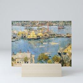 Classical Masterpiece 'Gloucester Harbor Landscape' by Frederick Childe Hassam Mini Art Print