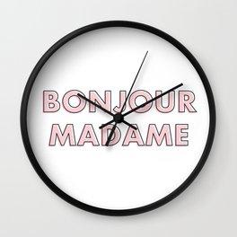 Bonjour Madame Wall Clock
