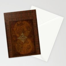 Antique Steampunk Compass Rose & Map Stationery Cards