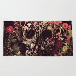 Bloom Skull Beach Towel
