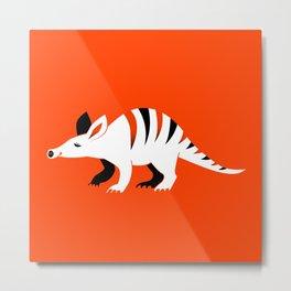 Happy Aardvark - Orange Metal Print