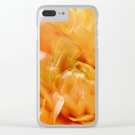 Abstract Yellow Blooming Joy Clear iPhone Case