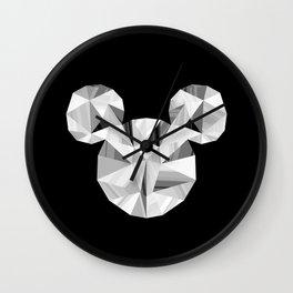 Silver Pop Crystal Wall Clock