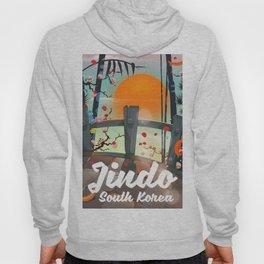 Jindo South korea travel poster. Hoody