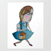 shopping Art Prints featuring shopping by mayubonne