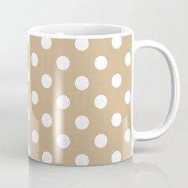 Polka Dots (White & Tan Pattern) Coffee Mug