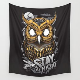 the owl Wall Tapestry