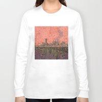 houston Long Sleeve T-shirts featuring houston city skyline by Bekim ART