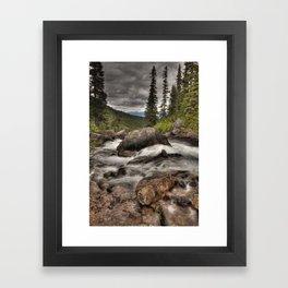 Geraldine Lakes HDR Framed Art Print
