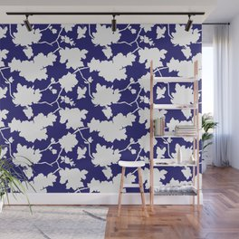 Chinoiserie Silhouette Navy Wall Mural