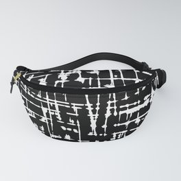 Abstract black and white artwork Fanny Pack