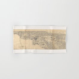 Vintage 1915 Los Angeles Area Map Hand & Bath Towel