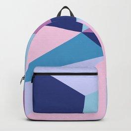 Geometrical pink teal lilac modern colorblock Backpack