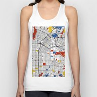 los angeles Tank Tops featuring Los Angeles by Mondrian Maps