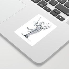 Funny Violin Illustration - The Dismount Sticker