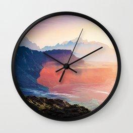 Sunrise Grandeur #society6 #decor #buyart Wall Clock