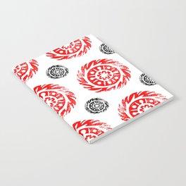 Sun mandala pattern Notebook