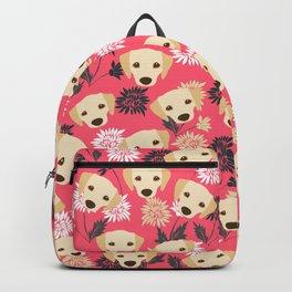 Cute Yellow Labrador Dog Backpack