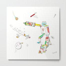 Fish Bot Metal Print