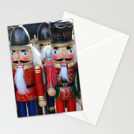 Colorful christmas nutcrackers Stationery Cards