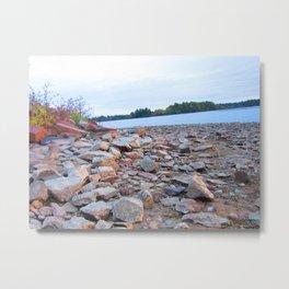 Rocks on the lake Metal Print