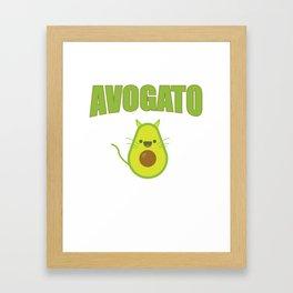 Avogato Funny Spanish Cat for Avocado Lover Framed Art Print