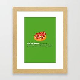 Bruschetta su Verde Framed Art Print
