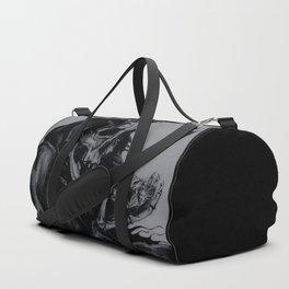 Skeleton Holding Diamond Duffle Bag