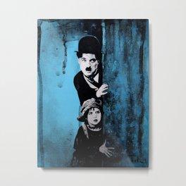 KINO - Chaplin and the kid Metal Print