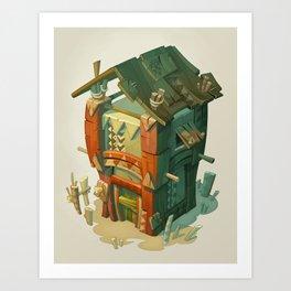 Afriki House Art Print