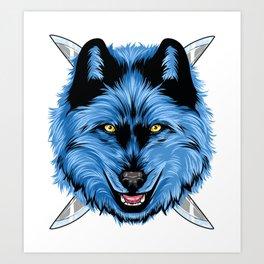 Dagger Wolf Art Print
