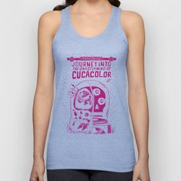 journey in to the ghastly mind of cucacolor Unisex Tank Top