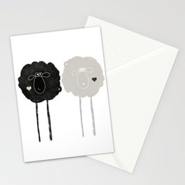 Ying Yang Sheep Stationery Cards