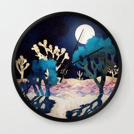 Desert Lake Moonlight Wall Clock