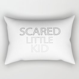 Scared Little Kid Rectangular Pillow